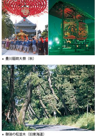 豊川市の見どころ 観光案内 豊川稲荷大祭、旧東海道 御油の松並木